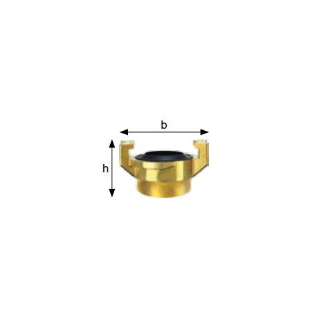 Złącza kłowe do wody, gwint wewn., mosiądz, rozstaw kłów 40 mm typ GKI