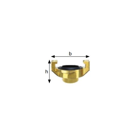 Złącza kłowe do wody, gwint zewn., mosiądz, rozstaw kłów 40 mm typ GKA