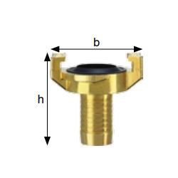 Złącza kłowe do wody, mosiądz, rozstaw kłów 40 mm typ GSK