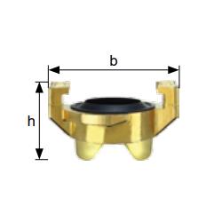 Zaślepki do złącza kłowego do wody, mosiądz, rozstaw kłów 40 mm typ GKO