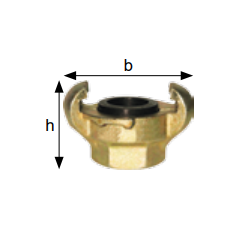 Złącza kłowe do powietrza, gwint wewn., rozstaw kłów 42 mm typ KIG