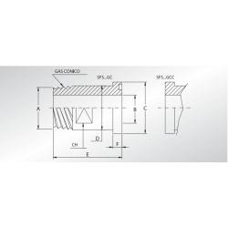 Adapter BSP stożkowy SFS