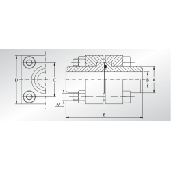 Podwójna flansza z adapterem do spawania DCET