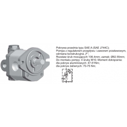 Pompa zębata grupa 2 ,śruby 106,4mm zamek 82,55mm Regulator ciśnienia