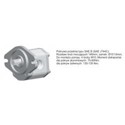 Pompa zębata grupa 2.5 śruby 146mm zamek 101,6mm