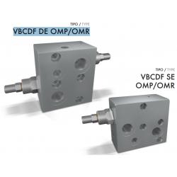 Zawór przeciążeniowo-blokujący  VBCDF DE/SE OMP/OMR