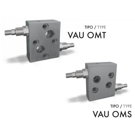 Podwójny zawór przelewowy krzyżowy rozkładany OMS/OMT