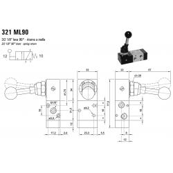 Zawór sterowany manualnie 321 ML90/LL90/CL90