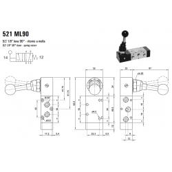 Zawór sterowany manualnie 521 ML90