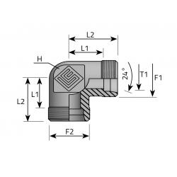 GZ Metryczny/GZ Metryczny Złącze kątowe 90°