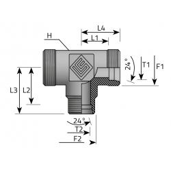 GZ Metryczny/GZ Metryczny/GZ Metryczny Trójnik redukcyjny symetryczny