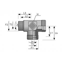 GZ Metryczny/GZ Metryczny/GZ Metryczny Trójnik redukcyjny niesymetryczny