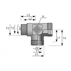 Trójnik Redukcyjny Niesymetryczny TME LS B
