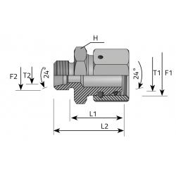 GW Metryczny/GZ Metryczny Złącze proste redukcyjne