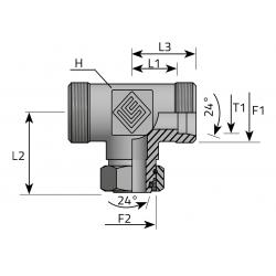 Trójnik Symetryczny z Nakrętką Nastawną TME LSFE LS P
