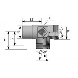GZ Metryczny/GZ Metryczny/Spaw Trójnik niesymetryczny do spawania