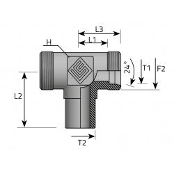 GZ Metryczny/GZ Metryczny/Spaw Trójnik symetryczny do spawania