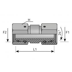 GW Metryczny/GW Metryczny Złącze proste