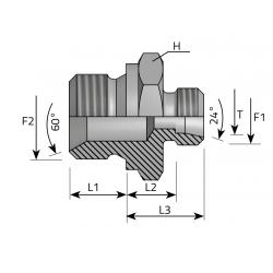 Przyłącze proste redukcyjne SV60 Metryczny-BSPP AME.LS.MG.SV
