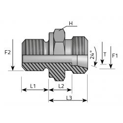 Przyłącze Proste Redukcyjne Metryczny-Metryczny AME.LS.MM