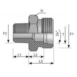 GZ Metryczny/GZ BSPT stożkowy Przyłącze proste redukcyjne