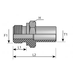 GZ BSPP/Spaw lub pod nakrętkę Złącze do spawania