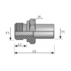 GZ Metryczny/Spaw lub pod nakrętkę uszczelka Przyłącze proste redukcyjne