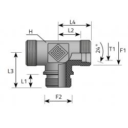 Trójnik Symetryczny Metryczny BSPP TME.LS.MG.P