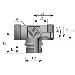 GZ Metryczny/GZ Metryczny/GZ Metryczny Trójnik symetryczny