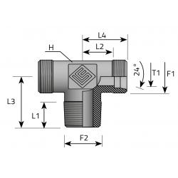 GZ Metryczny/GZ Metryczny/GZ Metryczny stożkowy Trójnik symetryczny
