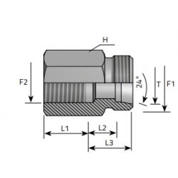 Tuleja Redukcyjna Metryczny-Metryczny AME.LS FFM