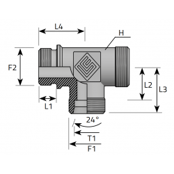 GZ BSPP/GZ Metryczny/GZ Metryczny Trójnik niesymetryczny