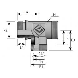 Trójnik Niesymetryczny Metryczny BSPP TME LS MG B