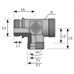 Trójnik Niesymetryczny Metryczny Metryczny TME LS MM B