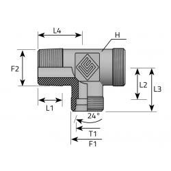GZ BSPT/GZ Metryczny/GZ Metryczny Trójnik niesymetryczny