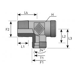 GZ Metryczny/GZ Metryczny/GZ BSPT Trójnik niesymetryczny