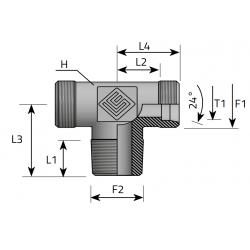 GZ Metryczny/GZ NPT/GZ Metryczny Trójnik symetryczny