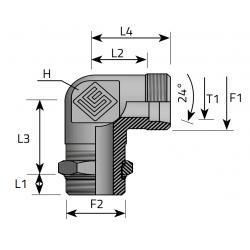 GZ Metryczny/GZ Metryczny nakr. kontr. Przyłącze kątowe 90°