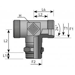 Trójnik Symetryczny Metryczny BSPP TME LS MOG P