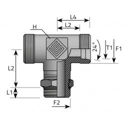 Trójnik Symetryczny Metryczny Metryczny TME LS MOM P