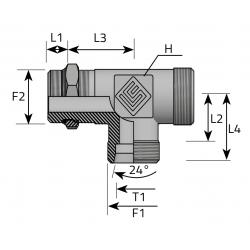 Trójnik Niesymetryczny Metryczny Metryczny TME LS MOM B