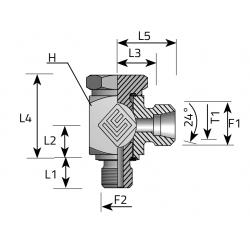 Przyłącze kątowe Banjo Metryczny-Metryczny LME LS BFM