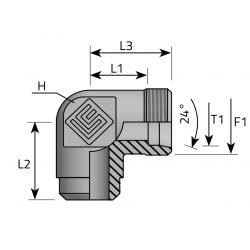 GZ Metryczny/Spaw Przyłącze kątowe 90°