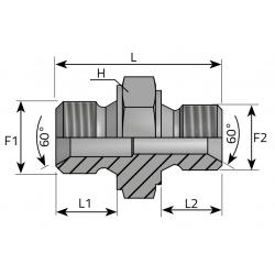 Złącze proste redukcyjne BSPP ARGG