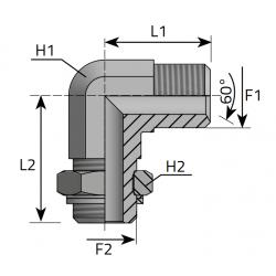 GZ BSPP/GZ BSPP Złącze kątowe nastawne 90°