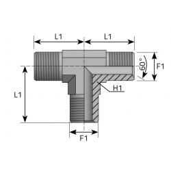 Trójnik T BSPP TMG
