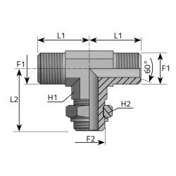 Trójnik symetryczny z nakrętką BSPP TMG...MOG.P