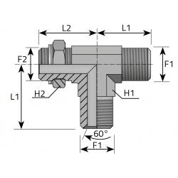 Trójnik niesymetryczny z nakrętką BSPP TMG...MOG.B
