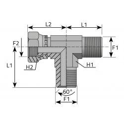 GW BSPP/GZ BSPP/GZ BSPP Trójnik niesymetryczny