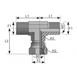 GW BSPP/GZ BSPP/GZ BSPP Trójnik symetryczny